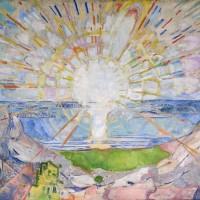 EdvardMunch:Solen /TheSun, 1911 Oljepålerret, 455 x 780 cm, Universitetet i Oslo, Aulaen Foto:©Munch-museet