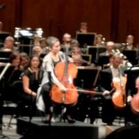 Anne Gastinel, ready to start on Dvorak Cello Concerto. to te right Daniele Gatti. Foto: Henning Høholt