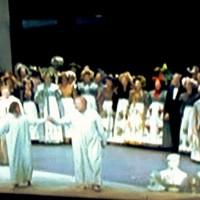 Applaus Salzburg 2013. Michael Wolle as Hans Sacks and as Sixtus Beckmesser in the center. Meistersinger by Stefan Herheim, Foto Henning Høholt from Mezzo