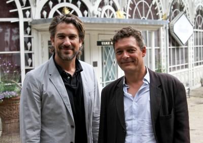 Nikolaj Koppel (tv) og Peter Reichhardt Tivoli Sommer 2015. Foto: Simon Verheij