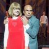 Caroline Frogner, her som Anne fra Gløpen, og Niklas Gundersen som Martin Kolberg, er to av høydepunktene i Halve Kongeriket, denne sesongens musikal  på Det Norske Teater. Foto Dag Jenssen.