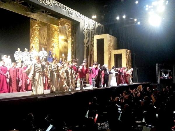 Turandot. Curtain call. Photo Simone Tomei