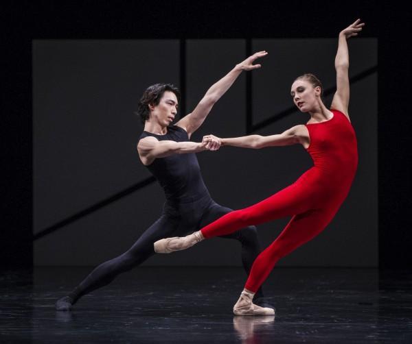 Yolanda Correa og Gakuro Matsui i Steptext av William Forsythe. Et høydepunkt . Foto Erik Berg