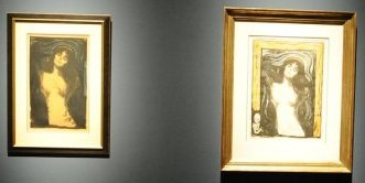 Even two different versions of the Edvard Munch litograpgies ;adonna is presented at Palazzo Strossi, Visted by Fabio Bardelli, foto Riccardo Sanesi