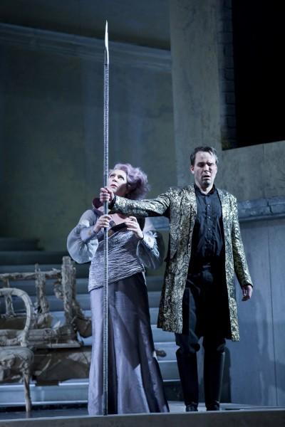 "Oper Leipzig - Richard Wagner ""Rheingold"". Karin Lovelius - Frick. Tuomas Purist - WotanFoto Tom Schulze"