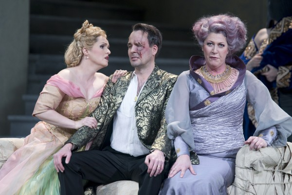 "Oper Leipzig - Richard Wagner ""Rheingold"". Premiere-4.5.13. Sandra Trattnigg - Freia. Tuomas Pursio - Wotan, Karin Lovelius - Fricke    <div title="