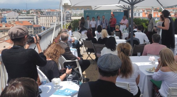 Sweden invites to a terrace in Cannes. Photo: Torkil Baden