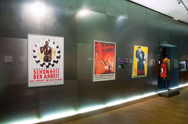 Exhibition display with National Socialist propaganda posters
