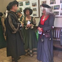 Middle age conversation at Wittenberg City Hall