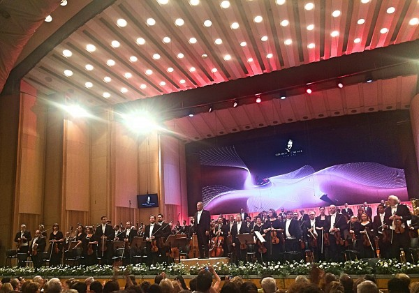 Israel Philharmonic Orchestra and Zubin Mehta at the Grand Palace Hall - during the Unescu Festival 2017 in Bucharest. Romania