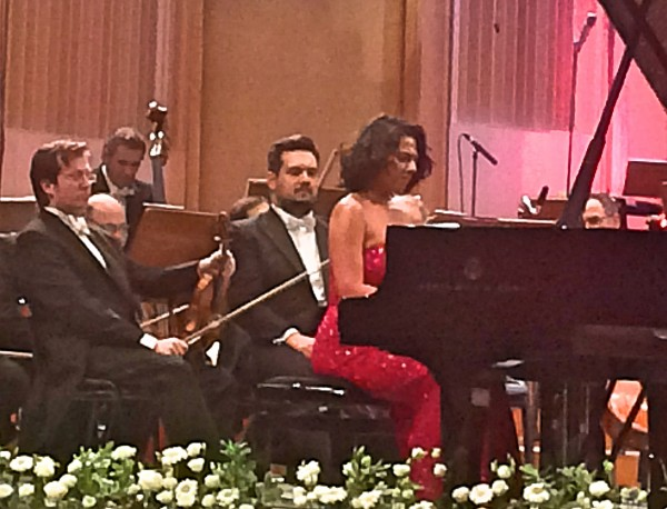 Khatia Buniatishvilli playing encore.