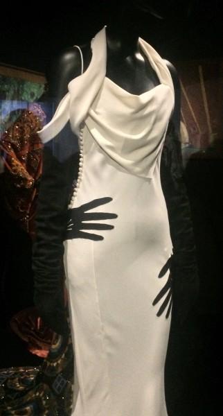 White evening dress dior, upper part