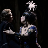 Barbara Frittoli and Roberto Alagna as Adriana and her beloved count.. Foto_ Alain Hanel.
