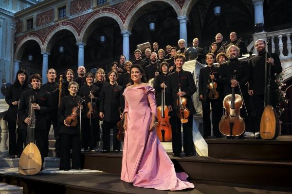 "Bartoli's new band, «Les Musiciens du  Prince, Monaco"". Photo: Alain Hanel"