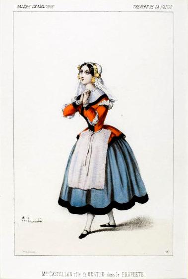 Jeanne-Anaïs Castellan as Berthe in the original production of Le prophète