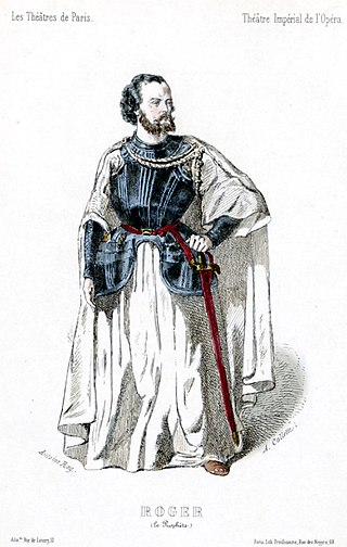 Gustave-Hippolyte Roger as Jean de Leyde in the original production of Le prophète.