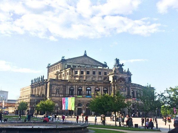 Semper Oper, Dresden, photographed in 2017 by Tomas Bagackas.