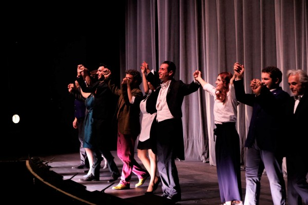 Curtain call Maestro Galli and the singers.
