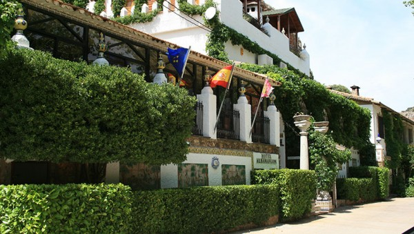Hotel Rural Albamanjón. The hotel has different restaurants and cafes, and you can get your meal, or refreshments indoor or outdoor at some of the terraces.