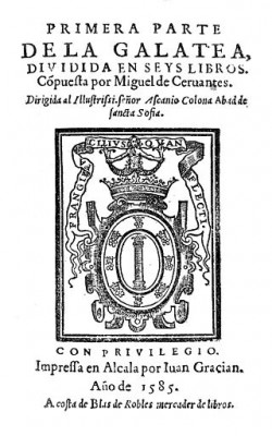 La Galatea, First Edition. Title Page